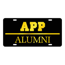 Appalachian Alumni Black Laser Cut Car Tag