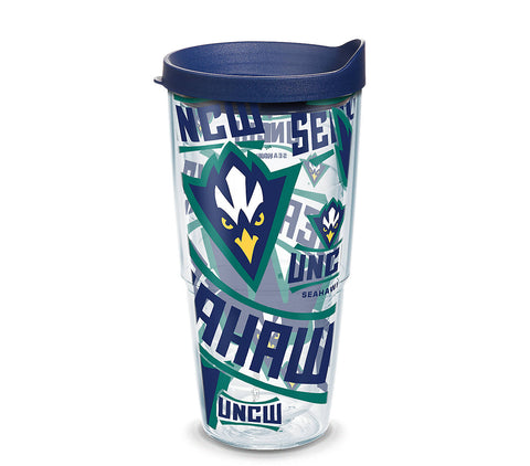 UNCW 24 oz. All Over Wrap Tumbler