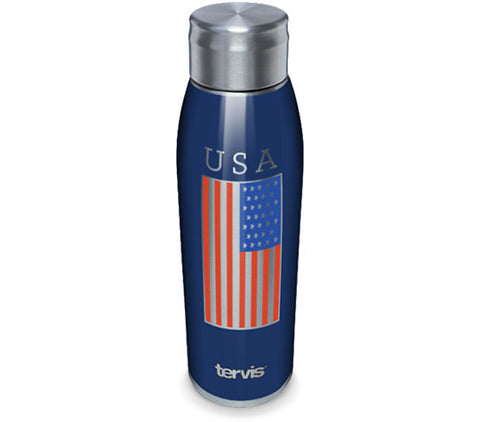 Tervis 17 oz. USA Flag Stainless Steel Slim Bottle