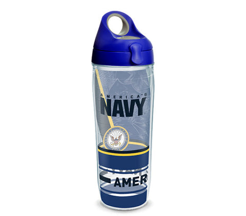 Navy 24 oz. Forever Proud Wrap Water Bottle