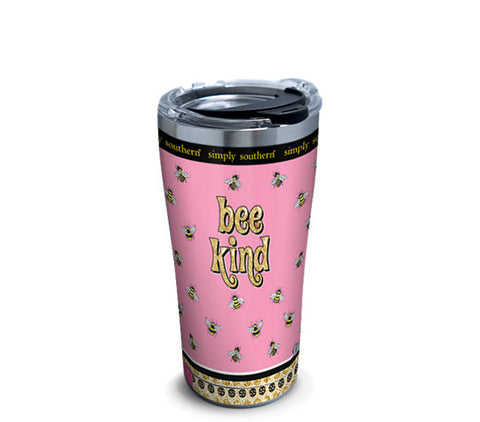 SS 20 oz. Bee Kind Stainless Steel Tumbler