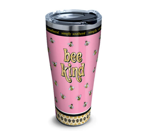 SS 30 oz. Bee Kind Stainless Steel Tumbler