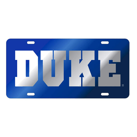 Duke Blue Laser Cut Car Tag