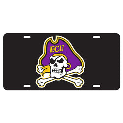 ECU Black Reflective Car Tag