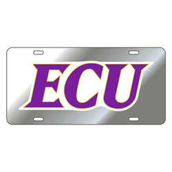 ECU Silver Reflective Car Tag