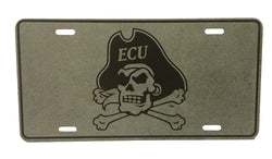ECU Charcoal Metal Tag