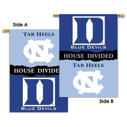 Duke/UNC House Divided Banner Flag