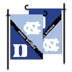 Duke/UNC House Divided Garden Flag