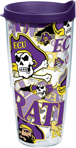ECU 24 oz. All Over Wrap Tumbler with lid
