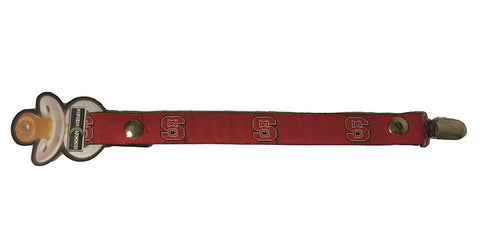 NC State Pacifier Holder Red