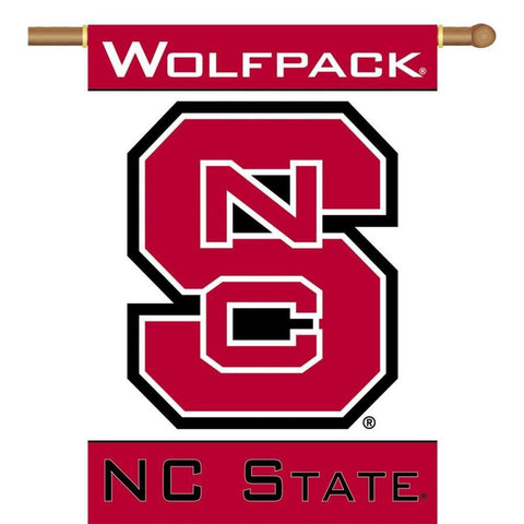 NC State 2-Sided Banner Flag