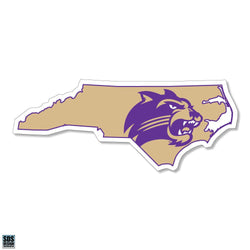 WCU Gold State Logo Decal