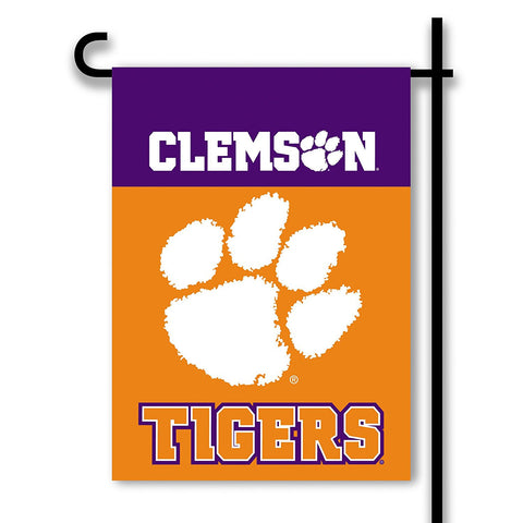 Clemson 2-Sided Garden Flag