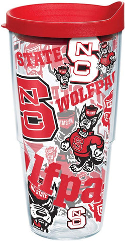 NC State 24 oz. All Over Wrap Tumbler with Lid