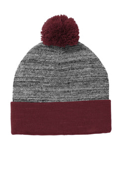 Sport-Tek Heather Pom Pom Beanie
