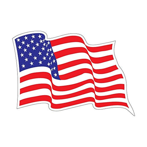 "USA Wavey Flag Decal (4"")"