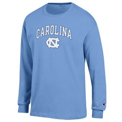 UNC Champion Arched Logo L/S Tee