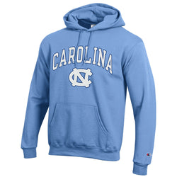UNC Champion Arched Logo Hooded Sweatshirt
