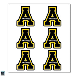 "Appalachian Black ""A"" Vinyl Decals (6-Pack)"