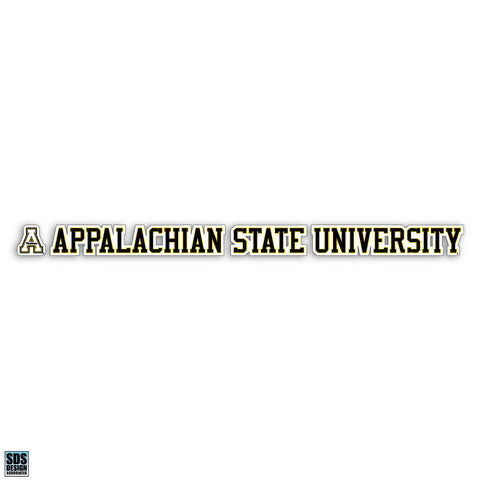 "Appalachian State University 20""x2"" Vinyl Decal"