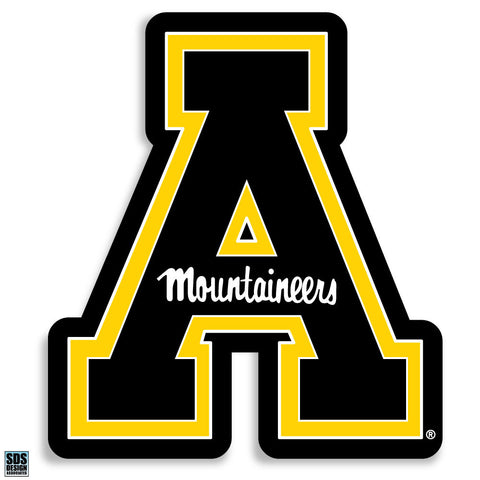 Appalachian State Black Quot A Quot Vinyl Decal Ultimate Sports