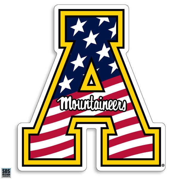 Appalachian State American Flag Vinyl Decal