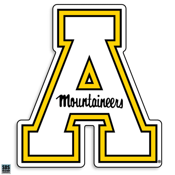 "Appalachian State White ""A"" Vinyl Decal"