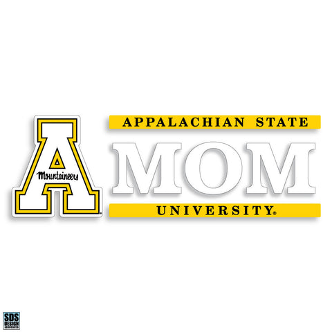 "Appalachian State 6""x2"" Mom Auto Vinyl Decal"
