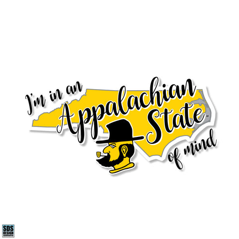 "Appalachian State of Mind Vinyl Decal (3"")"