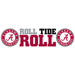 "Alabama ""Roll Tide Roll"" Vinyl Decal"