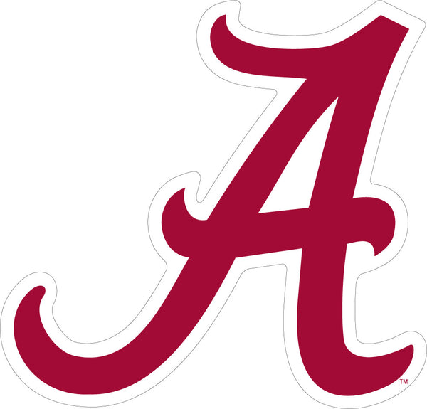 "Alabama Script ""A"" Vinyl Decal"
