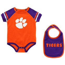 Clemson Infant Warner Onesie & Bib Set
