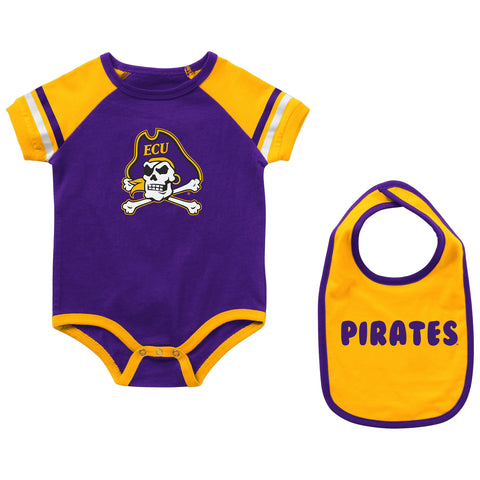 ECU Infant Warner Onesie & Bib Set