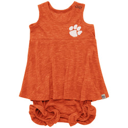 Clemson Infant Girls Snorkasaurus Bloomer Set