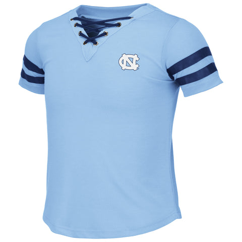 UNC Youth Girls Wels Lace Up Tee