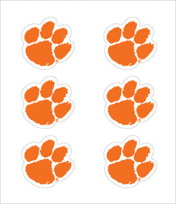 Clemson Paw Decals (6-Pack)
