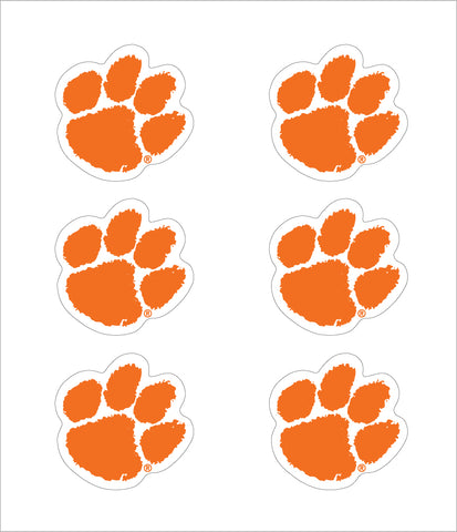 Clemson Vinyl Decals (6-Pack)
