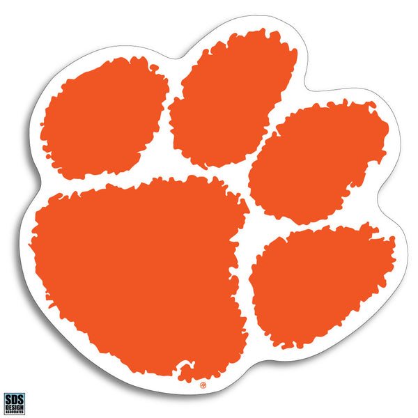 Clemson Paw Vinyl Decal
