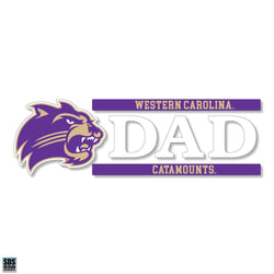 "WCU 6""x2"" Dad Auto Vinyl Decal"