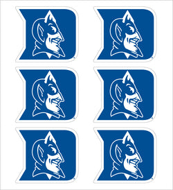 "Duke 1"" Vinyl Decals - Pack of 6"