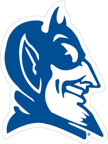 Duke Blue Devil Head Vinyl Decal