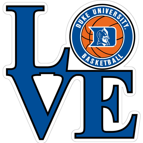 Duke Love Basketball Decal-3""