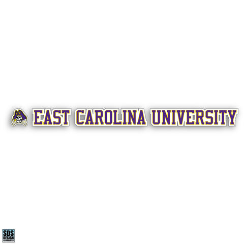 ECU 20 in. Vinyl Decal