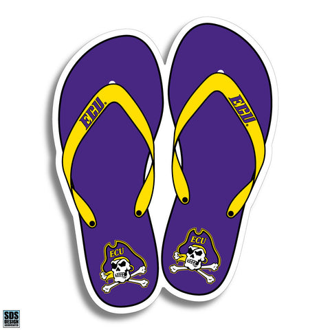 "ECU Flip Flop Decal (3"")"
