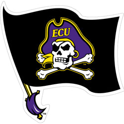 ECU Black Flag Decal -3""