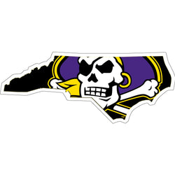 ECU Skull Jolly Roger State Decal