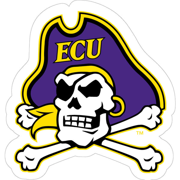 ECU Pirate Skull Cross Bones Decal