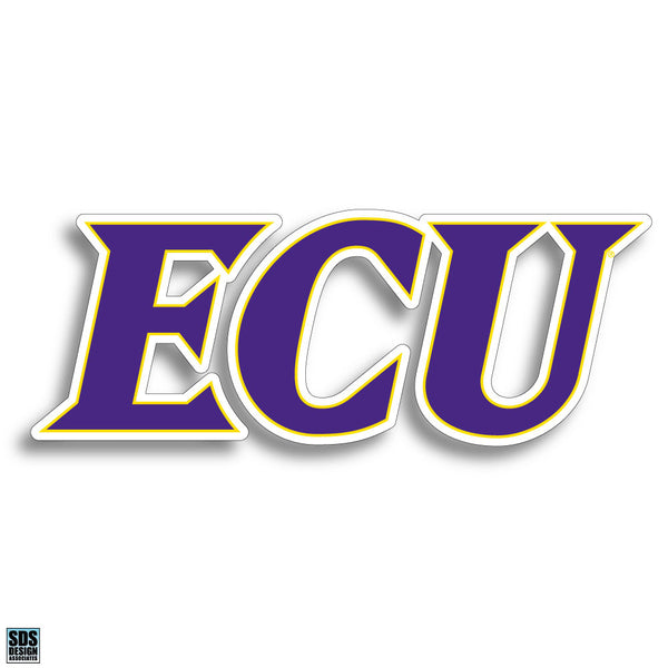 ECU Text Decal -3""