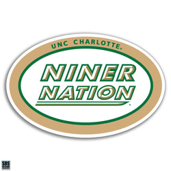 "UNCC ""Niner Nation"" Vinyl Decal (6"")"