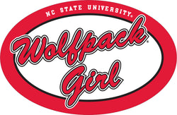 "NC State Euro ""Wolfpack Girl"" Magnet"